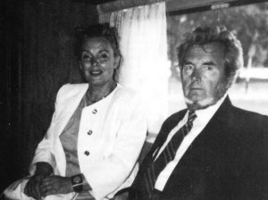 Jonas Pleškys finally returned to his homeland in the spring of 1992 after an absence of more than thirty years. He is seen here reunited with sister Eugenija.