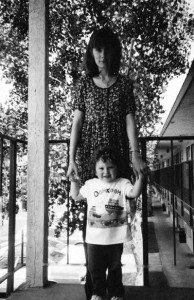 Jonas Pleškys' daughter Jennifer lives in Guatemala. Here she is seen in 1993 with son Joshua.
