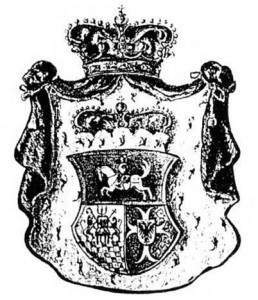 The coat-of-arms of the Gallitzin dynasty shows its Lithuanian origin. The galloping Vytis — emblem of the Lithuanian state — is portrayed in the top section of the shield. The crowns denote the family's royal ancestry. Father Demetrius is believed to have been the first to bring the Lithuanian national emblem to America.