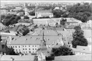 Gallitzin's plans for the building of the town of Loretto were remarkably like those of Vilnius (below), which his forefather Gediminas is credited with erecting. Neighboring hills would encircle the city and form the protecting walls. His house, atop the highest hill, would be the beacon, like Gediminas' castle.
