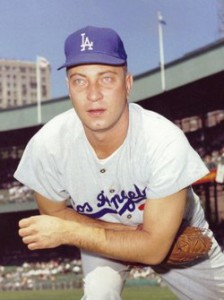 Johnny Podres (Poderis), the lefthanded pitcher who was voted Most Valuable Player of the 1955 World Championship Series.