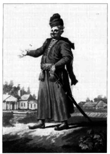 A Lithuanian nobleman, late 18th century. Forster did not have a high opinion of the manners of Vilnius noblemen.