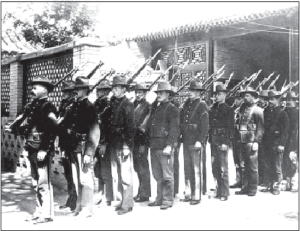 US soldiers in China during the Boxer Rebellion.