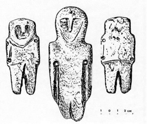 Amber figurines such as these, created by the residents of the Courish Spit thousands of years ago, indicate a highly developed culture.