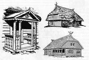 The rural architecture of Lithuania Minor is not much different from that of Lithuania Major, as these examples of farm buildings show.