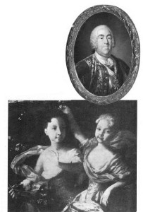 Right: Augustus III (1696-1763), the Elector of Saxony, was installed as King of Lithuania and Poland through the instigations of Peter the Great. (Painting by Marceli Bacciarelli). Below: The cousins Anne and Elizabeth as young girls. (From a painting in the Russian Museum in St. Petersburg).
