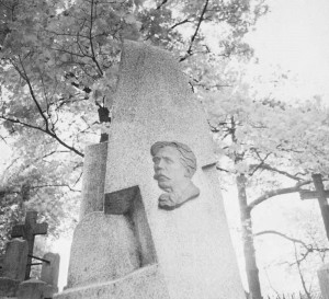 Čiurlionis' grave in Rasų Cemetery is topped by a granite monument bearing the portrait of the artist. It is a much visited place by locals and tourists alike.
