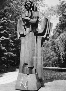 Monument to Čiurlionis erected in 1975 in a Druskininkai park. It is one of several monuments in the health resort city to honor its most famous resident. The sculptor is V. Vildžiūnas