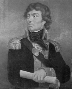 Kosciusko as officer in the American Revolutionary War. Painting by Karol Schweikart