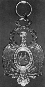The Order of Cincinnati, which Kosciusko received from George Washington for his service to the American cause.