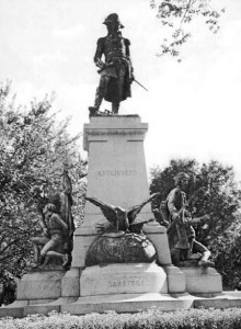 The monument to Thaddeus Kosciusko in Washington, D.C., was designed by Antoni Popiel and erected in 1910.