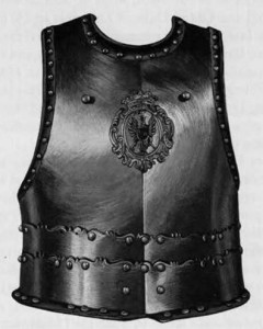 Breastplate of hussar armor with the Radvila coat of arms. Early 18th century (War Museum of Poland, Warsaw.)