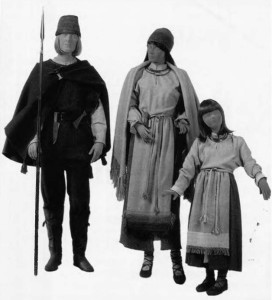 Lithuanians of the 7th-8th centuries. Clothing and accessories reconstructed from burial sites in Karmazinai and Neravai.