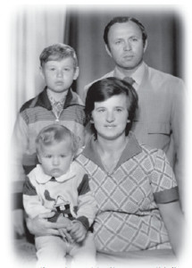 Rimantas and Irena Stankevičius with their older son Gintaras and baby Algis, photographed around 1979.