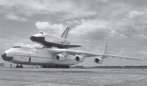 """The """"Buran"""" Space Shuttle is ready for a sub-orbital test flight. Rimas piloted this spacecraft a total of 16 times."""