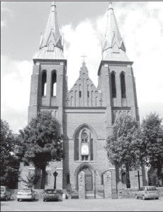 Josvainiai's splendid Neo-Gothic church.