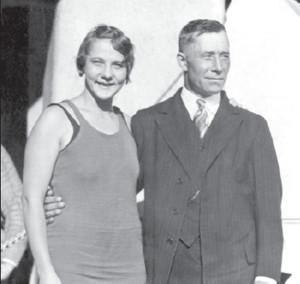 Albina with her father Kazys Osipavičius.