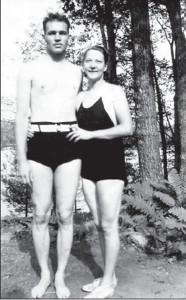 An attractive, athletic couple: Albina and husband Harrison Van Aken.