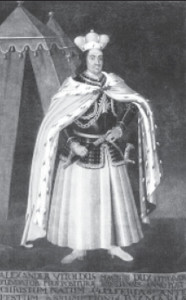 Vytautas became one of the greatest rulers in all of Europe. But could he have become such without Ona's support? (17th century portrait by unknown artist.)