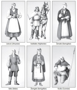 Some of the tribes that inhabited the territory of what is present-day Lithuania. (Drawings by Algirdas Remeikis. ©Elektroninės leidybos namai.)