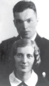 Marcinkus with wife Aleksandra Lingytė, a champion basketball player
