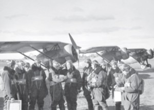 Marcinkus reporting after a flight.