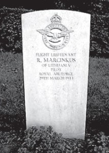 Marcinkus' ashes rest in a grave at Poznan, Poland, marked with a Commonwealth War Graves Commission headstone.