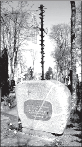 Griškevičius's tombstone at the Viekšniai cemetery, erected in 1980.