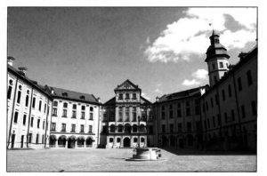 Courtyard of Nesvizh Castle.