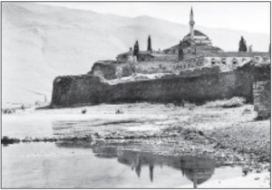 View of Ioannina, early 20th century. Mineyko spent some years in this beautiful Greek city.