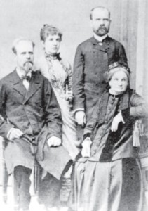 From left to right: Zygmunt Mineyko, Rozalie Mineyko, Eustachy Mineyko and Cecylia Mineyko. Picture taken at the turn of the 20th century, most likely in Greece.