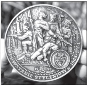Table medal issued in 1993 to commemorate the 130th anniversary of the 1863-1864 Insurrection.