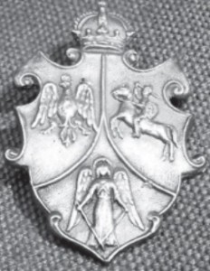 Insignia of the 1863-1864 Insurrection with Poland's, Lithuania's and Ukraine's coat of arms.
