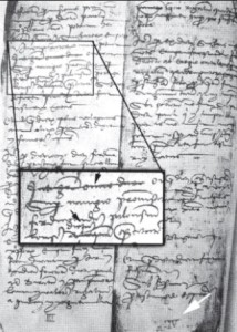 The notable Documento Assereto. On this page, Rosa points out some contradictions and inconsistences , and believes the entire document may be a forgery.