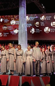 The cantata honored the 14 Lithuanians killed on January 13, 1991, when Russian soldiers and tanks tried to suppress Lithuanian independence. (Photo by J. Kuprys)