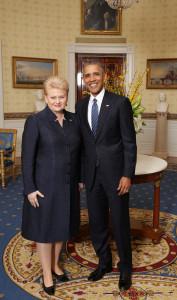 President Dalia Grybauskaitė and President Barack Obama.