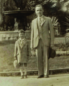 Stanley Balzekas Jr. with his father, circa 1930.