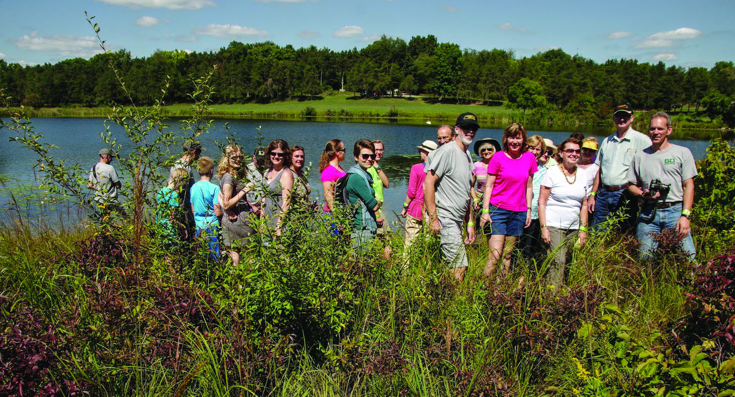 Campers made their way through thorns and thistles to reach the natural springs that feed Lake Spyglys.