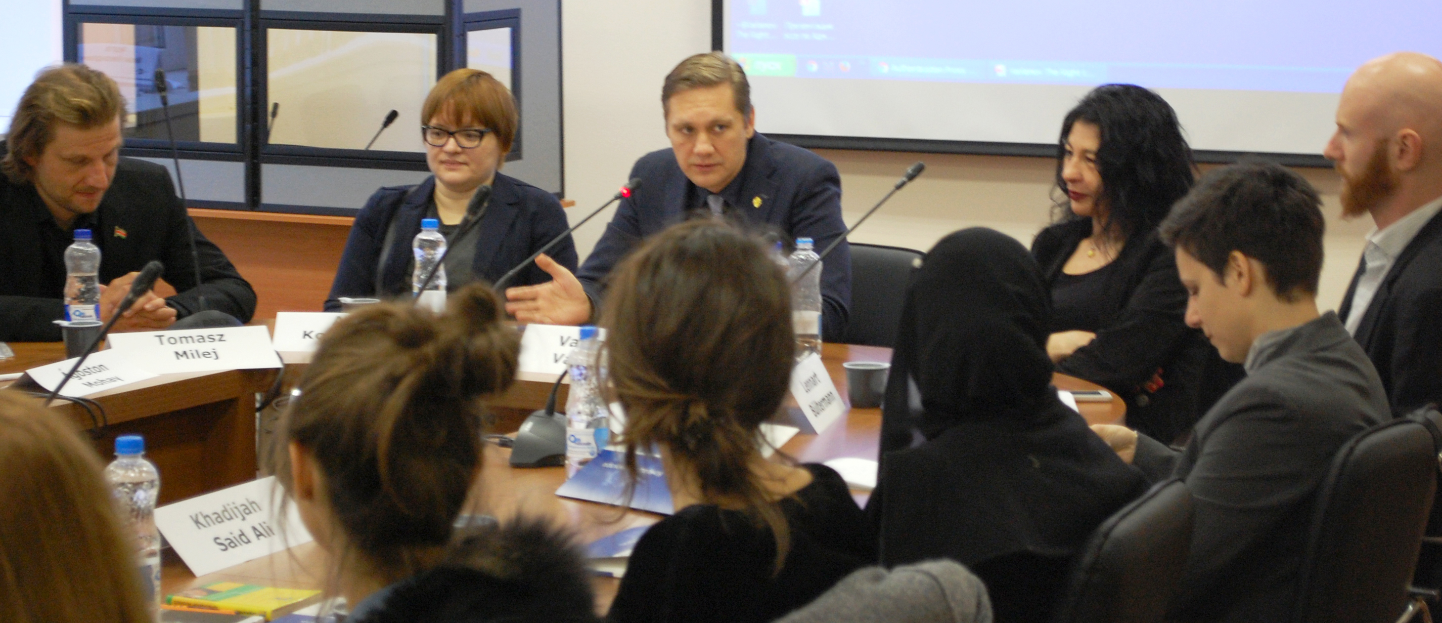 Vaidotas Vaičaitis participates in a Constitutional Law Seminar in Moscow, Russia, 2016.