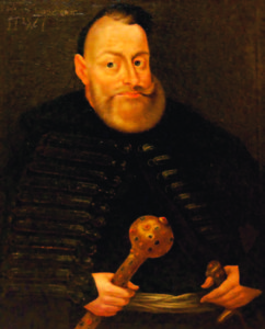 Early 17th century portrait of J.K. Chodkevičius by an anonymous Polish or Lithuanian painter.