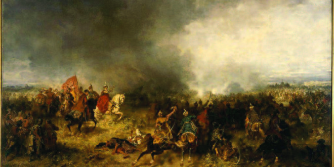 Chodkevicius is the central figure in this famous painting of the Battle of Chocim by Polish artist Jozef Brandt.