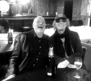 Linas with Ian Hunter in Oct. 2016 in Cleveland.