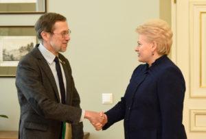 L. Mažylis with president Dalia Grybauskaitė.