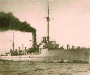 "The ""Prezidentas Smetona"" on a training mission in the Baltic Sea, circa 1936."