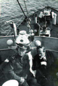 The President of Lithuania, Antanas Smetona and the Defense Minister Stasys Dirmantas visit the boat on August 11,1930.