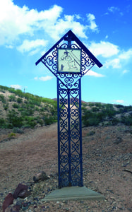 Stations of the Cross were erected by Father Justinas Klumbis in Rincon, New Mexico.