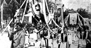 Lithuanian procession in Harbin, 1938.