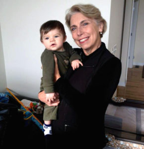 Diana Vidutis with her grandnephew Wesley, 2014.