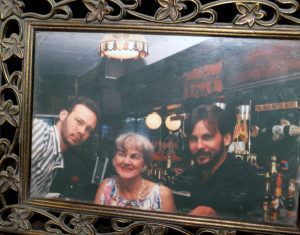 Bernice Badauskas with her two sons, Steve (l.) and Mike.