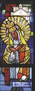 Our Lady of the Gate of Dawn. East St. Louis. Stained Glass.